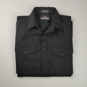 Airwalk Black Long Sleeve Shirt w/Tab pull